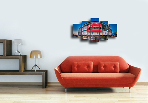 HD Printed Wrigley Field- Baseball 5 Pieces Canvas