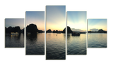 HD Printed Sky 5 Pieces Canvas