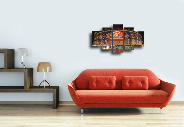 HD Printed Wrigley Field - Chicago Cubs 5 Pieces Canvas