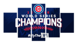HD Printed Chicago Cubs - World Series Champions 2016 5 Pieces Canvas