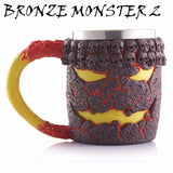 Stainless Steel Skull, Dragon, Wolf.. Series Mug