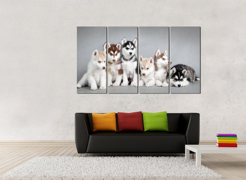 HD Printed Dog 4 Pieces Canvas B