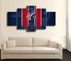 HD Printed NFL Logo New England Patriots 5 Pieces Canvas