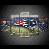 HD Printed New England Patriots 5 Pieces Canvas