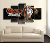 HD Printed Carmelo Anthony NY Knicks Basketball 5 Pieces Canvas