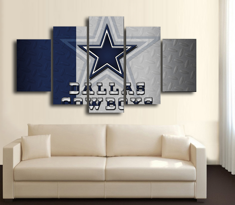 HD Printed Dallas Cowboys Football 5 Pieces Canvas Style B