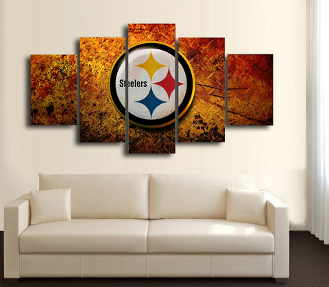 HD Printed Pittsburgh steeler Logo Football 5 Pieces Canvas