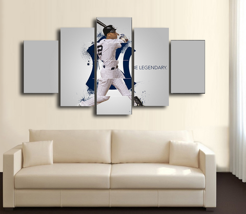 HD Printed Derek Jeter Baseball 5 Pieces Canvas