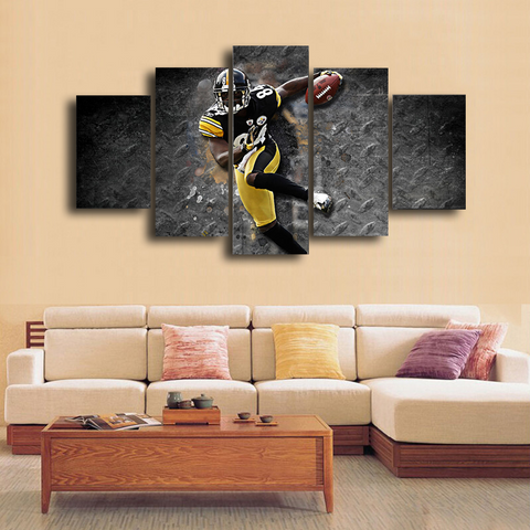 HD Printed Antonio Brown Football 5 Pieces Canvas