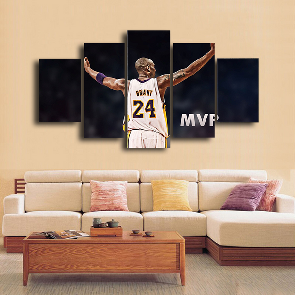HD Printed Kobe Bryant MVP Basketball 5 Pieces Canvas