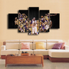 HD Printed Kobe Bryant LA Lakers Basketball 5 Pieces Canvas