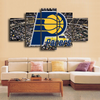 HD Printed Indiana Pacers Logo Basketball 5 Pieces Canvas