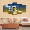 HD Printed Indiana Pacers Logo 5 Pieces Canvas