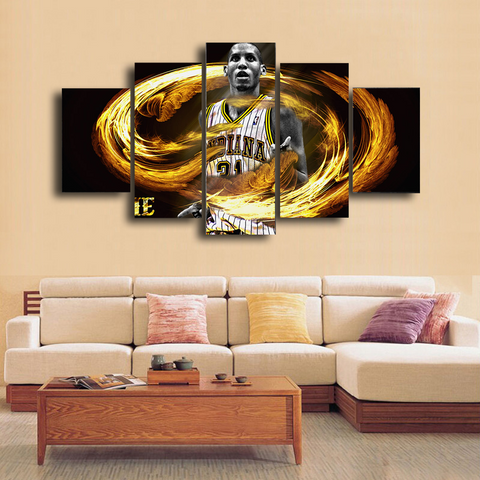 HD Printed Reggie Miller Indiana Pacers 5 Pieces Canvas
