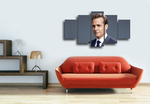 HD Printed Harvey Specter 5 Pieces Canvas