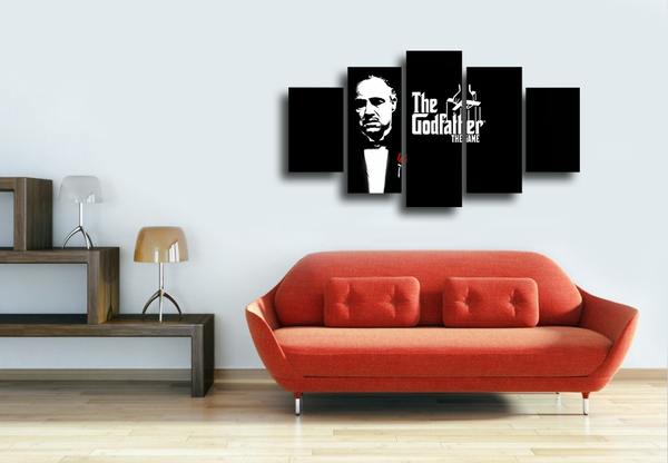 HD Printed The GodFather Character 5 Pieces Canvas