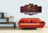 HD Printed Washinton Redskins Football 5 Pieces Canvas
