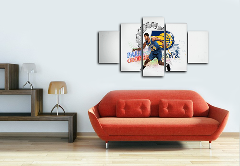 HD Printed Paul George Indiana Pacers 5 Pieces Canvas