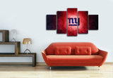 HD Printed New York Giants Logo Football 5 Pieces Canvas