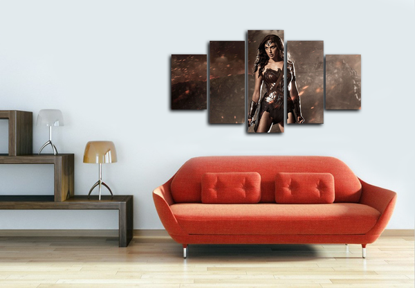 HD Printed Wonder Woman Dawn of Justice 5 Pieces Canvas