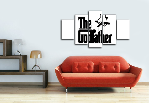 HD Printed The GodFather 5 Pieces Canvas