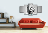 HD Printed Marilyn Monroe 5 Pieces Canvas