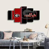 HD Printed Georgia Bulldogs Football 5 Pieces Canvas