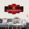 HD Printed Manchester United Logo 5 Pieces Canvas