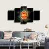 HD Printed Manchester United Club Logo 5 Pieces Canvas