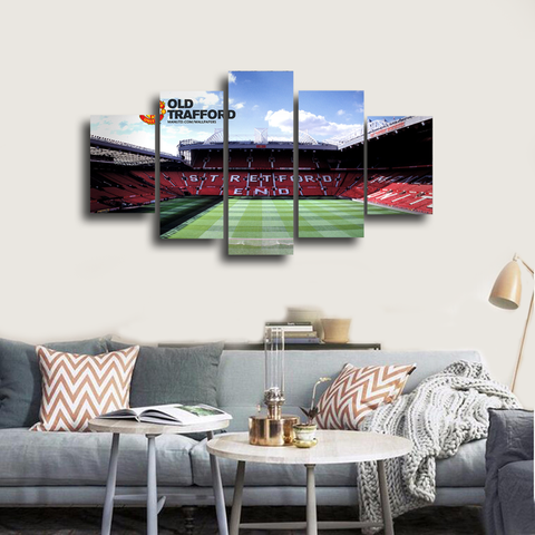 HD Printed Old Trafford Stadium 5 Pieces Canvas