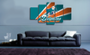 HD Printed Miami Football Logo 5 Pieces Canvas