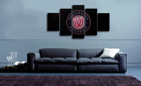 HD Printed Washington Nationals Logo 5 Pieces Canvas