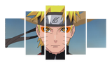 HD Printed Naruto Anime Character 5 Pieces Canvas