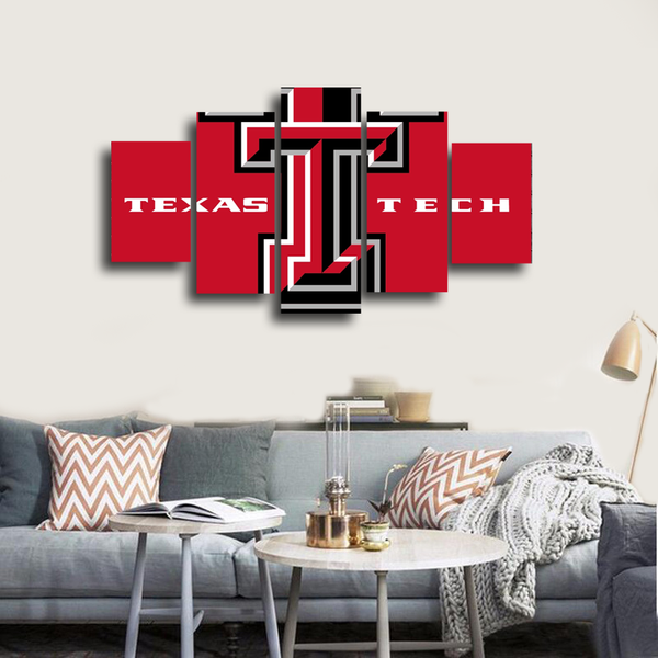 HD Printed Texas Tech University 5 Pieces Canvas