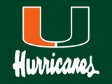 HD Printed Miami Hurricane Logo 5 Pieces Canvas