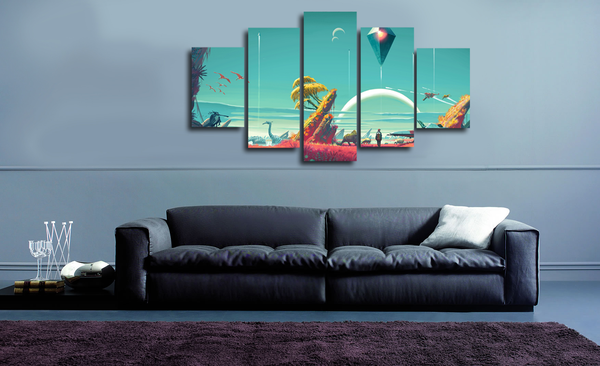 HD Printed No Man's Sky 5 Pieces Canvas