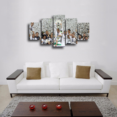 HD Printed Real Madrid Undecima 2016 5 Pieces Canvas