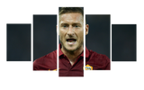 HD Printed Francesco Totti 5 Pieces Canvas