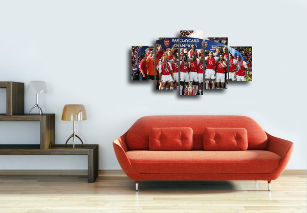 HD Printed Arsenal Champion 2003-2004 5 Pieces Canvas