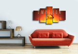 HD Printed Francesco Totti Emperor 5 Pieces Canvas