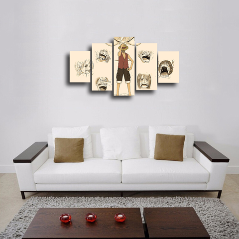 HD Printed OnePiece 5 Pieces Canvas