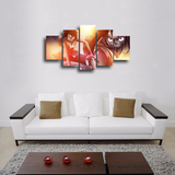 HD Printed Luffy One Piece 5 Pieces Canvas