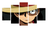 HD Printed Monkey D. Luffy 5 Pieces Canvas