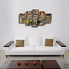 HD Printed Wanted Dead Or Alive One Piece 5 Pieces Canvas