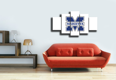 HD Printed Marietta Baseball 5 Pieces Canvas