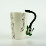 ELECTRIC GUITAR CERAMIC MUG MUSIC PORCELAIN CUP