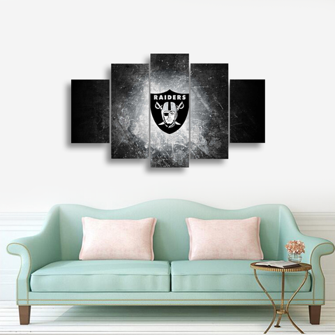 HD Printed Oakland Raiders Football 5 Pieces Canvas