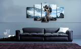 HD Printed Star Wars - Storm Trooper in Battle field 5 Piece Canvas