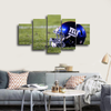 HD Printed NY Giants Helmet Football 5 Pieces Canvas