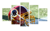 HD Printed Washington Redkins Helmet Football 5 Pieces Canvas